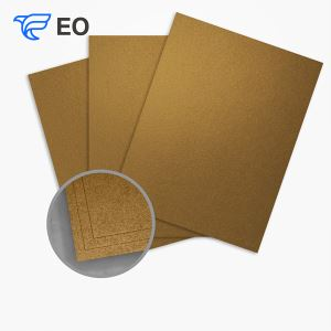 Coated Gold Silver Cardboard